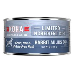 KOHA Rabbit Pâté Wet Cat Food - 3 oz Cans - Limited Ingredient Diet