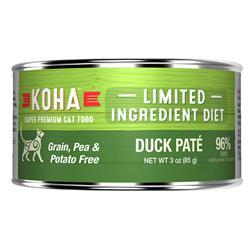 KOHA Duck Pâté Wet Cat Food - 3 oz Cans - Limited Ingredient Diet