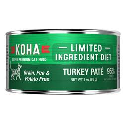 KOHA Turkey Pâté Wet Cat Food - 3 oz Cans - Limited Ingredient Diet