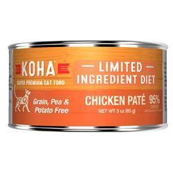 KOHA Chicken Pâté Wet Cat Food - 3 oz Cans - Limited Ingredient Diet