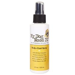 My Dog Nose It Coat and Body Spray 4oz - Sun Protection for Your Dog, Protects Against Harmful UVA/UVB Rays