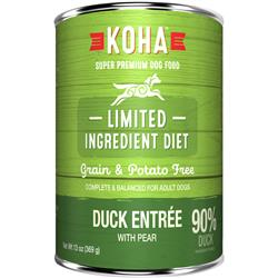 KOHA 90% Duck with Pear - 13oz Cans - Limited Ingredient Diet
