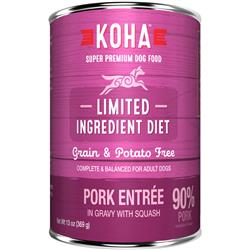 KOHA 90% Pork with Fresh Squash - 13oz Cans - Limited Ingredient Diet