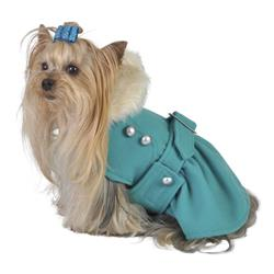 Turquoise Belted Coat