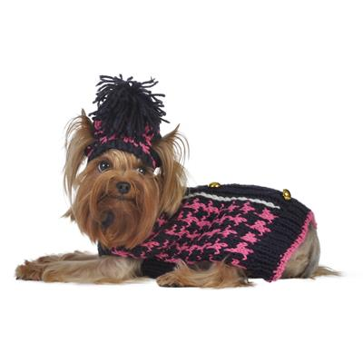 Houndstooth Sweater w/Hat