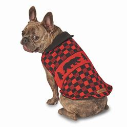 Eddie Bauer PET Woods Creek Lined Sweater in Red/Black Bear by PetRageous Designs!
