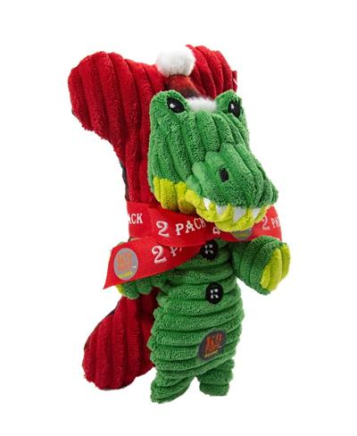 Frosty Fellows Holiday Gator and Bone - 2 Pack