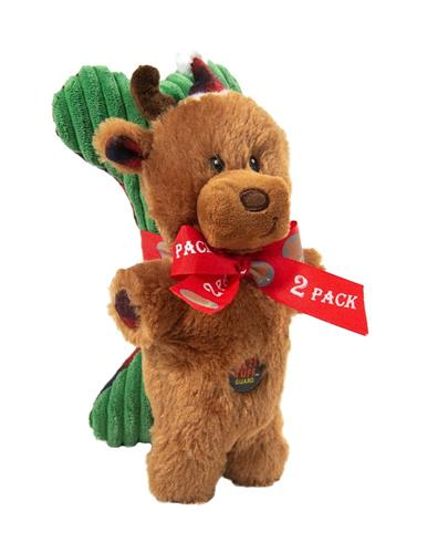 Mitten Mates Holiday Reindeer and Bone - 2 Pack