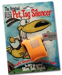 Orange Quiet Spot Dog Tag Silencer