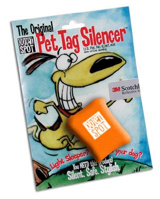 Orange Quiet Spot Dog Tag Silencer