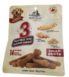 Natural Farm 3 Ingredient Dog Bone - No Corn, no fillers, no Artificial Flavors - 3 Sizes
