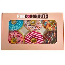 Box of 6 Doughnuts Plush Toy - Case of 3