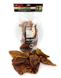Natural Pig Ears - 10 count Resealable Bags