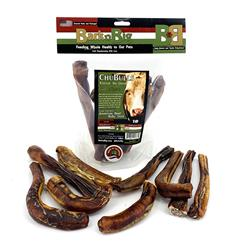 Beef ChuBull Assorted Size X-Thick Bully Sticks in a 1 pound bag