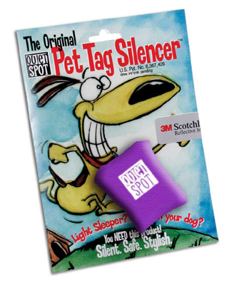 Purple Quiet Spot Dog Tag Silencer