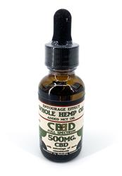 Whole Hemp Oil - 500mg CBD Tincture