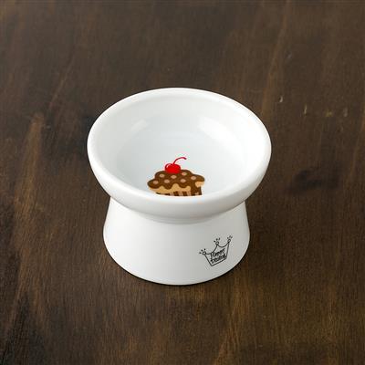 Cupcake Design - Raised Cat Food Bowl