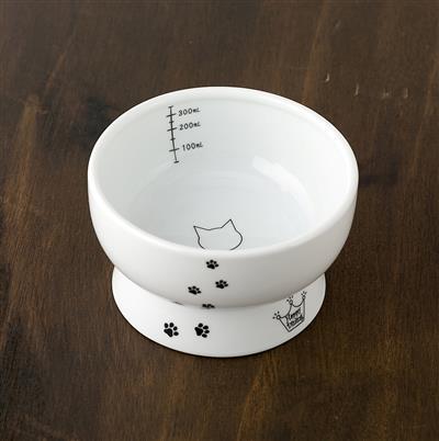 Cat Design - Raised Cat Water Bowl