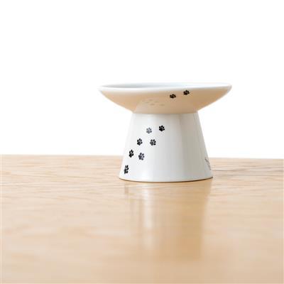 Cat Design - Extra Wide Raised Cat Food Bowl