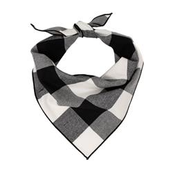 Buffalo Plaid Dog Bandana, Black & White  |  BUY 10 GET 1 FREE