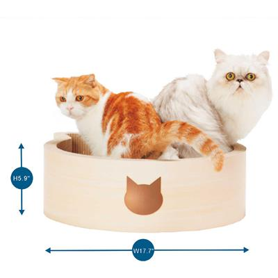 Cat-headed Scratcher Bed (Birch) - Large