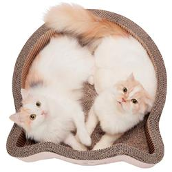 Cat-headed Scratcher Bed (Birch) - Large