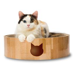 Cozy Cat Scratcher Bowl (Cat Design)