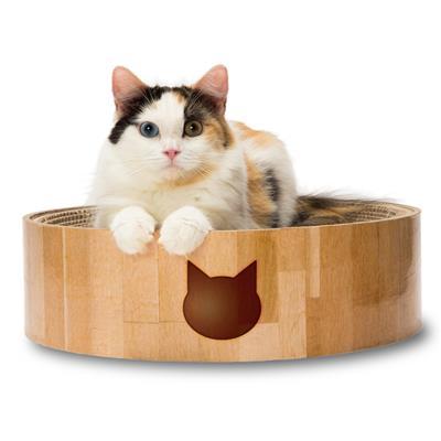 Cozy Cat Scratcher Bowl (Cat Design)