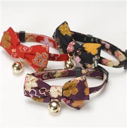 Kimono Bow Tie Cat Collars