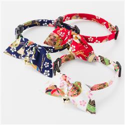 Kimono Ribbon Cat Collars