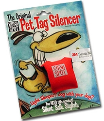 Red Print Quiet Spot Dog Tag Silencer