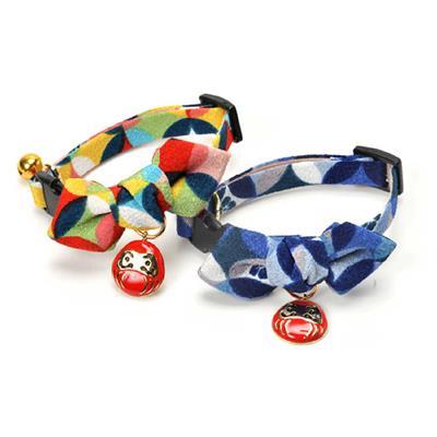 Daruma Charm Bow Tie Cat Collars