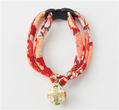 Chirimen Temari Dynasty Cat Collars