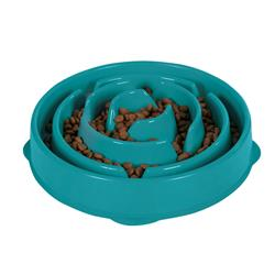 Fun Feeder Slo-Bowl - Teal by Outward Hound®