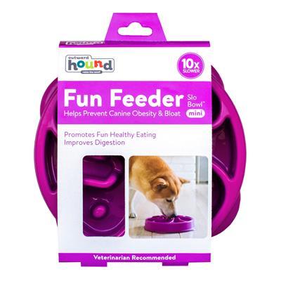 Fun Feeder Slo-Bowl - Purple by Outward Hound®