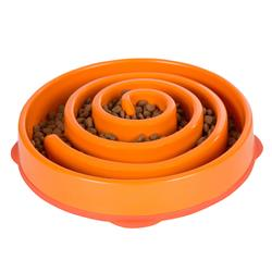 Fun Feeder Slo-Bowl - Orange by Outward Hound®
