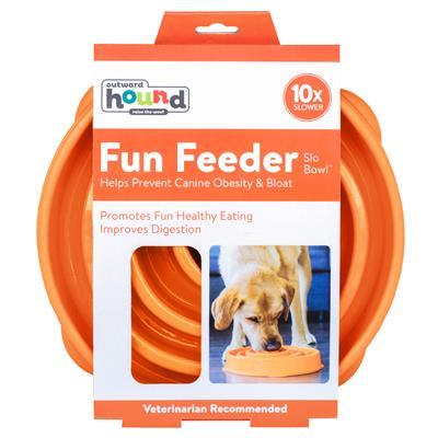 Fun Feeder Slo-Bowl - Orange by Outward Hound®