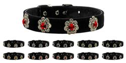 Pasadena Flowers with Crystals Jewelry Set Collars