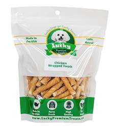 Toy Dog Size - Chicken Wrapped Rawhide Dog Treats