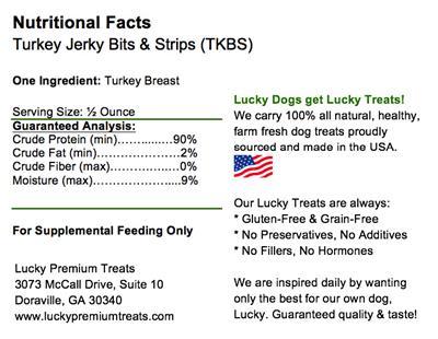 Turkey Jerky Bits & Strips Dog Treats