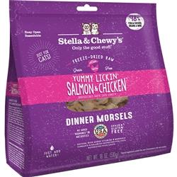STELLA & CHEWY'S CAT FREEZE-DRIED DINNER YUMMY SALMON & CHICKEN 18OZ