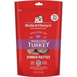 STELLA & CHEWY'S DOG FREEZE-DRIED TURKEY DINNER PATTIES 14OZ
