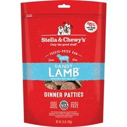 STELLA & CHEWY'S DOG FREEZE-DRIED LAMB DINNER PATTIES 25OZ
