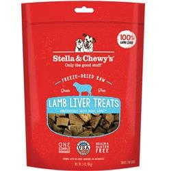 STELLA & CHEWY'S DOG FREEZE-DRIED TREAT LAMB LIVER 3OZ