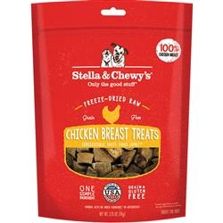 STELLA & CHEWY'S DOG FREEZE-DRIED TREAT CHICKEN BREAST 2.75OZ