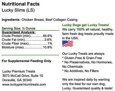 Lucky Slims Chicken Jerky Treats