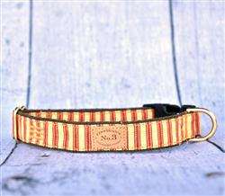 """1"""" Red Stripe Collars and Leads"""