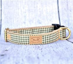 Small Green Plaid Collars and Leads