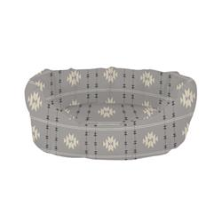 TRIBAL GRAY ROUND CUDDLER PET BED