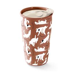 NAMASTE DOGS TRAVEL MUG